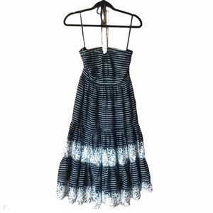 Gap Halter Dress with Black and White